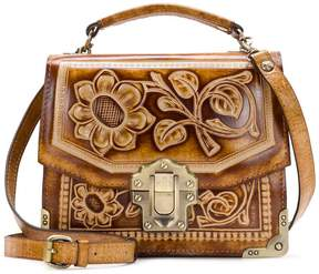 Patricia Nash Burnished Tooled Collection Stella Top-Handle Satchel