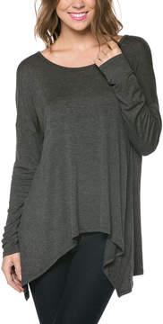 Celeste Charcoal Sidetail Top - Women