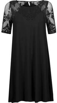 Tart Collections Jessar Lace And Stretch-Modal Jersey Mini Dress