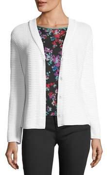 Emporio Armani Button-Front Shawl-Collar Knit Jacket