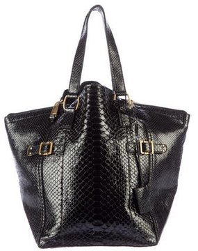 Saint Laurent Python Downtown Bag - BLACK - STYLE