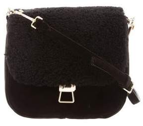 Theory Shearling Perry Saddle Bag