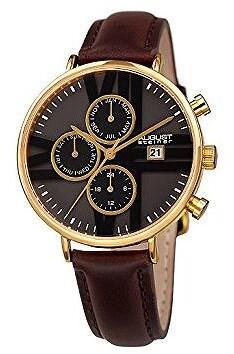 August Steiner Ladies Leather Watch