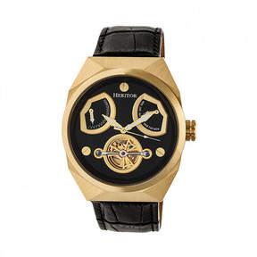 Heritor Oxford Mens Black Strap Watch-Herhr5504