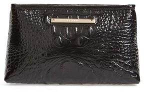 Brahmin Marney Croc Embossed Zip Pouch - Black