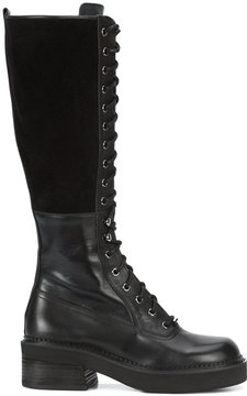 See by Chloe knee high combat boots