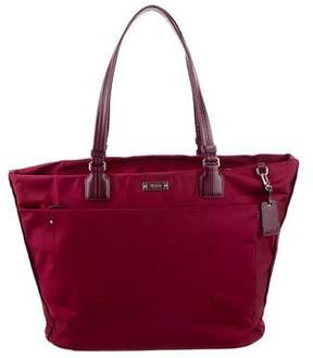 Tumi Large Leather-Trimmed Tote