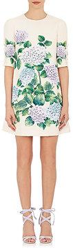 Dolce & Gabbana Women's Hydrangea-Print Crepe Shift Dress