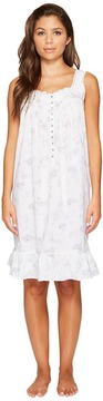 Eileen West Cotton Lawn Printed Short Chemise Women's Pajama