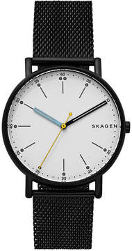 Skagen Men's Signature Black Stainless Steel Mesh Bracelet Watch 40mm SKW6376