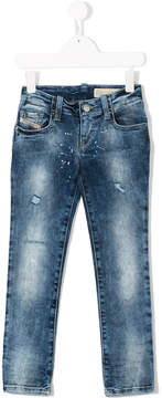 Diesel studded washed out jeans