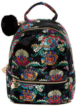 Betsey Johnson Satin Chinoiserie Embroidered Mini Backpack