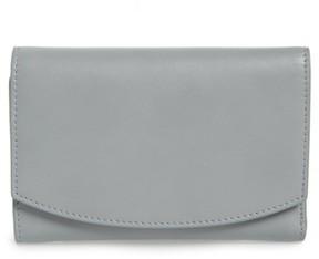 Skagen Women's Compact Leather Flap Wallet - Grey