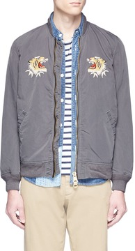 Remi Relief Tiger embroidered twill bomber jacket