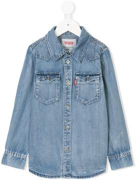 Levi's Kids front yoke denim shirt