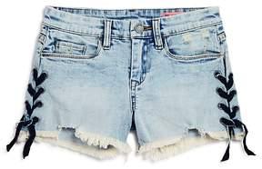 Blank NYC BLANKNYC Girls' Lace-Up Cutoff Shorts - Big Kid