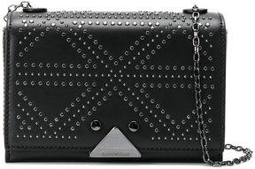 Emporio Armani stud detail shoulder bag
