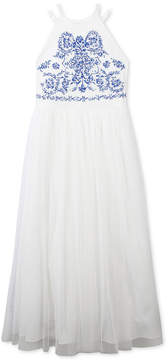 Speechless Embroidered Maxi Dress, Big Girls