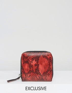 Monki Faux Snake Square Purse