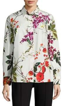 Escada Nicoli Floral-Print Cotton Shirt