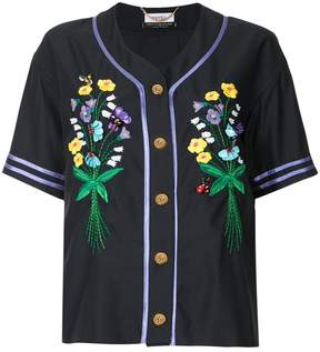 Muveil button embroidered shirt