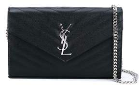 Saint Laurent Women's Black Leather Clutch. - BLACK - STYLE
