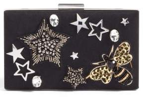 Nordstrom Applique Minaudiere - Black
