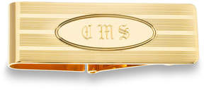 Zales Men's Oval Design Money Clip in 14K Gold (3 Initials)