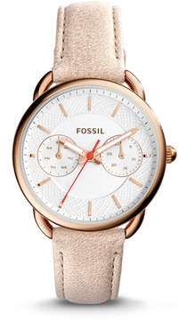 Fossil Tailor Multifunction Light Brown Leather Watch