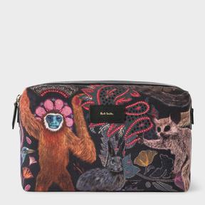 Paul Smith Men's Canvas 'Monkey' Print Wash Bag