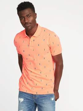 Old Navy Printed Built-In Flex Pro Polo for Men