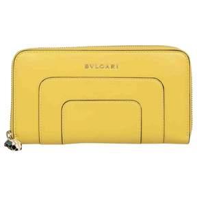 Bulgari Yellow Leather Wallets