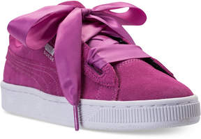 Puma Girls' Suede Heart Casual Sneakers from Finish Line