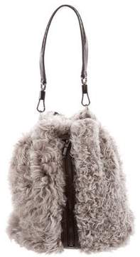 Elizabeth and James Cynnie Shearling Sling Backpack