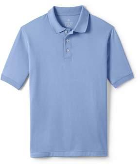 Lands' End Lands'end School Uniform Men's Big Banded Short Sleeve Pima Polo