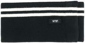 No.21 striped knit belt
