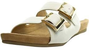 Giani Bernini Jijee Women Open Toe Leather White Slides Sandal.
