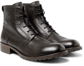 Belstaff Alperton Burnished-Leather Boots