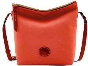 Dooney & Bourke Nylon Hobo Crossbody Shoulder Bag - TOMATO - STYLE