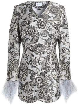 Alice McCall Bold And The Beautiful Ostrich Feather-Trimmed Brocade Jacket