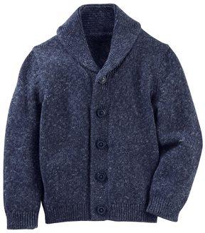 Osh Kosh Toddler Boy Marled Shawl Collar Cardigan Sweater
