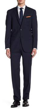 Hart Schaffner Marx Navy Stripe Two Button Notch Lapel New York Fit Suit