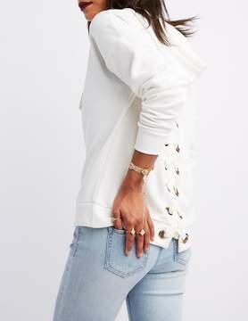 Charlotte Russe Embellished Mesh Stretch Bracelet & Ring Set