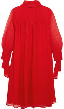 Alexander McQueen Silk-crepon Mini Dress - Red