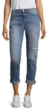 Hudson Riley Star Straight-Leg Jeans