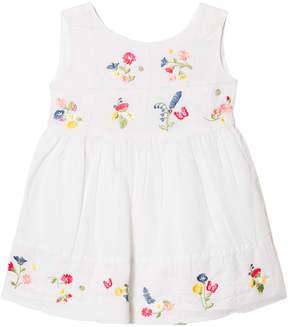 Mayoral White Floral Linen Dress
