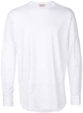 Marni long-sleeved panelled top