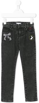 Little Marc Jacobs patch detail jeans