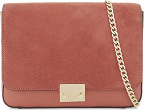 Loeffler Randall Nubuck lock shoulder bag