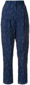 Emporio Armani lace appliqué cropped trousers